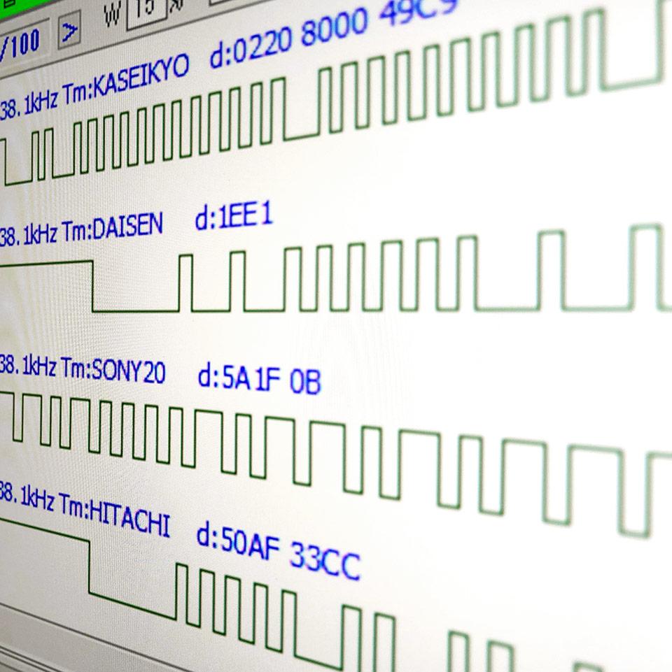 赤外線電波信号