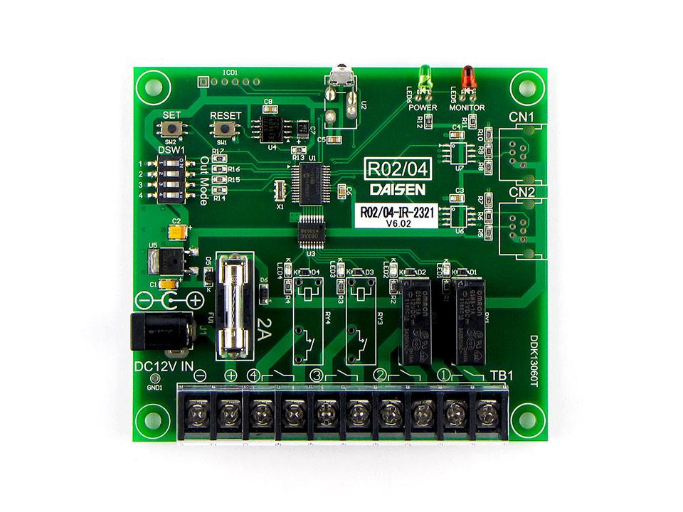 2点リレー接点出力赤外線受信機R02-IR