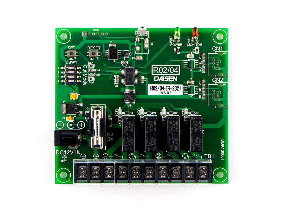4点リレー接点出力赤外線受信機R04-IR